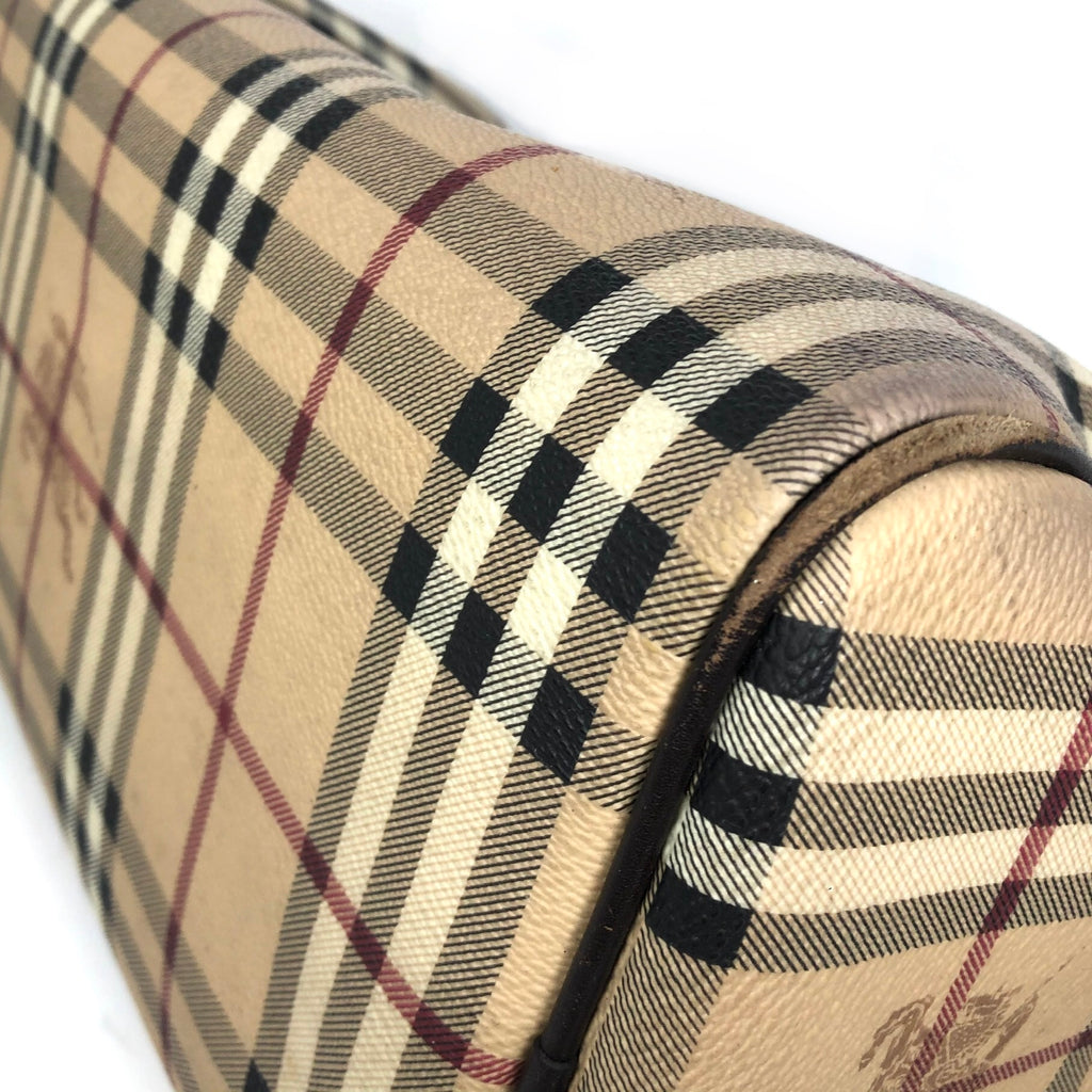 Burberry Haymarket Check Boston Bag