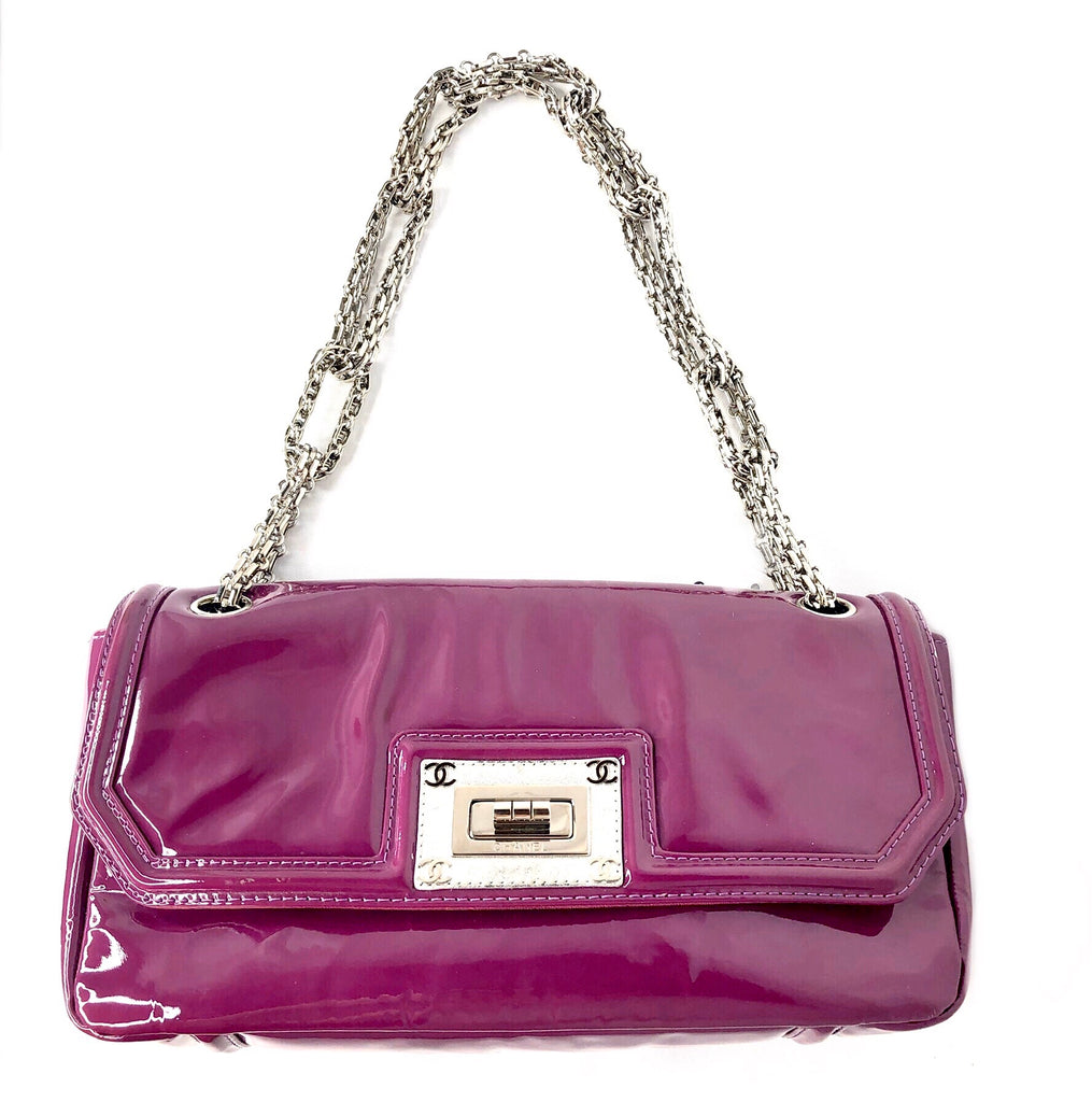 Chanel 2.55 Reissue Chain Patent Leather Flap Bag