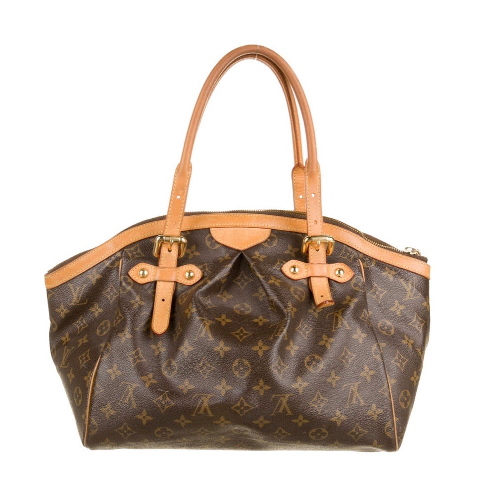 Brown and Large Louis Vuitton monogram tivoli satchel with handleser