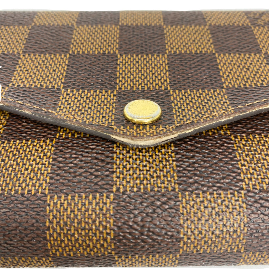 Louis Vuitton Damier Ebene Sarah Wallet