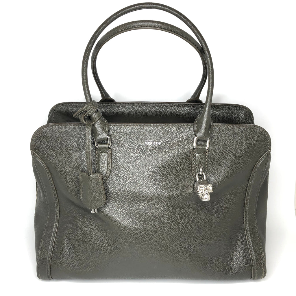 Alexander McQueen Large Skull Padlock Zip Around Tote