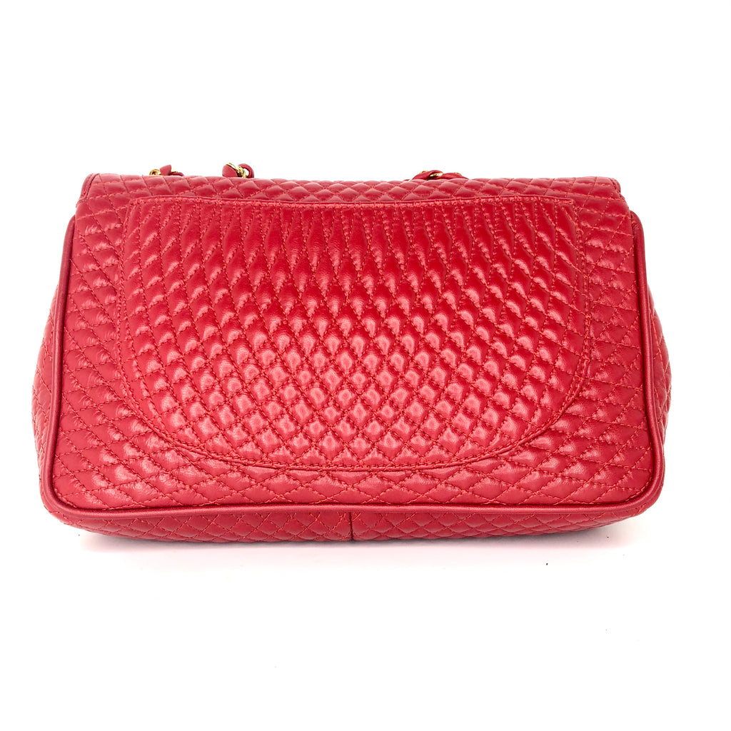 Bally Diamond Quilted Double Flap Chain Bag
