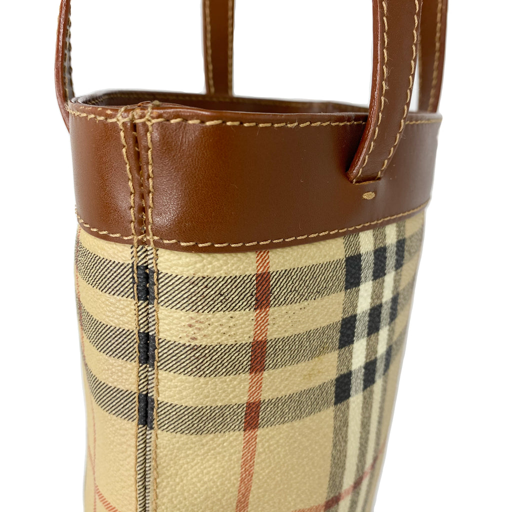 Burberry Haymarket Check Mini Bucket Tote