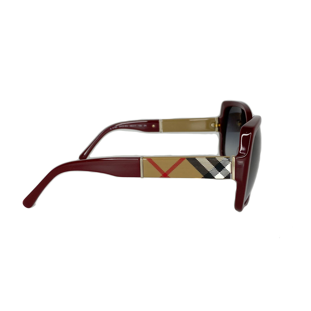Burberry Nova Check Large Frame Sunglasses