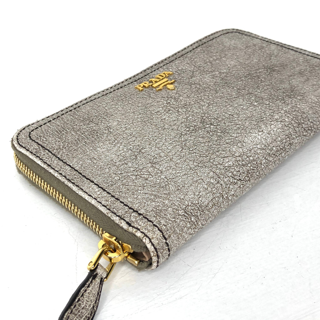 Prada Leather Continental Wallet