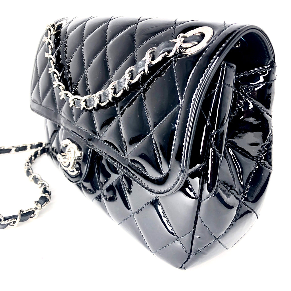 Chanel Classic Patent Leather Medium Flap Bag