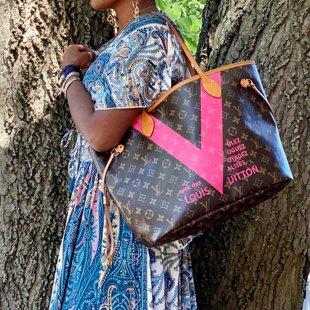 Louis Vuitton Neverfull MM Monogram V Tote