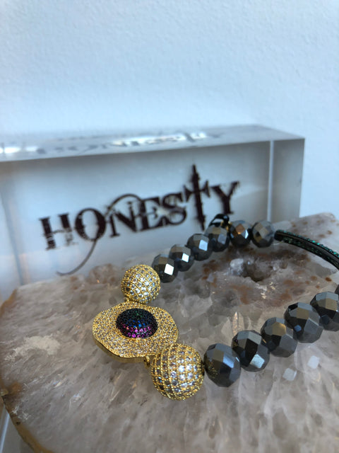 Honesty Double Hematite Bead