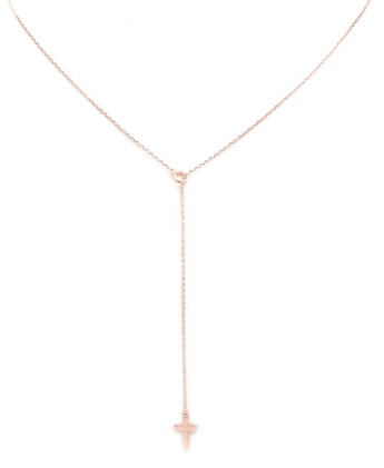 Y-drop Cross Necklace