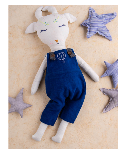 Sam the Caribou - Fabric doll by Pookies - Handmade stuffed toy