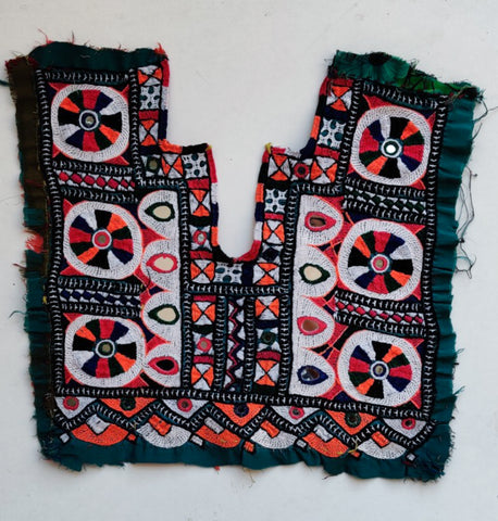 Vintage bohemian embroidery yoke - Kutch embroidery - Nidhi