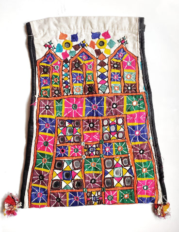 Rajput kutch dowry bag-  embroidered envelope bag - Embroidered vintage bag