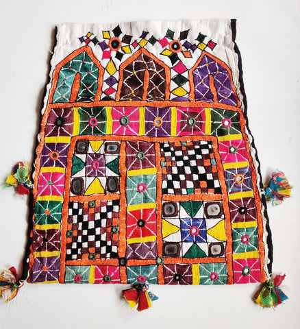 Rajput kutch dowry bag-  embroidered envelope bag - Embroidered vintage bag - Rani
