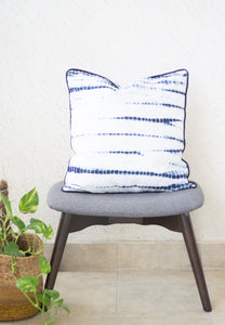 Tie and dye decorative cushion covers - Shibori cushions - Blue and white  18x18 inches