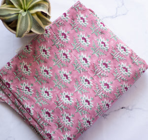 Block print cotton fabric - Printed fabric for sale