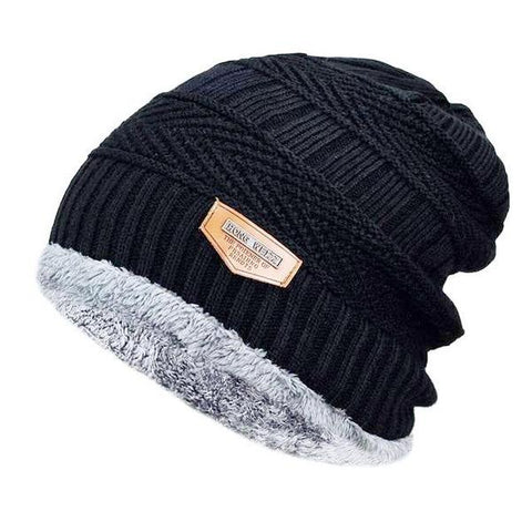 Beanie Male Hat Bonnet Thick Winter Hat