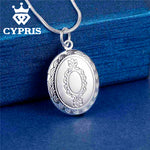 Hot Selling Silver Pendant Locket Plate Oval Necklace - CandM Online Store