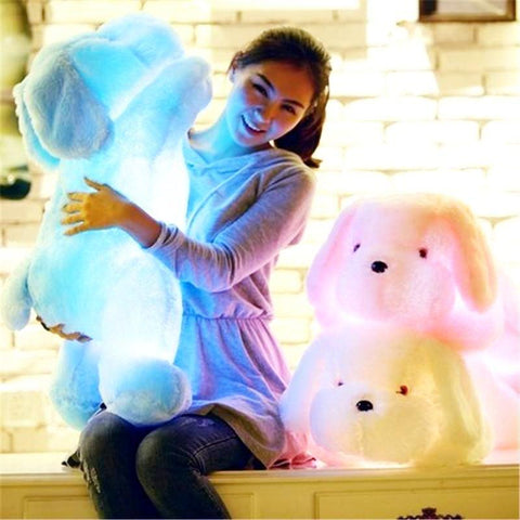 Plush Colorful LED Glowing Dog Stuffed Animal - CandM Online Store