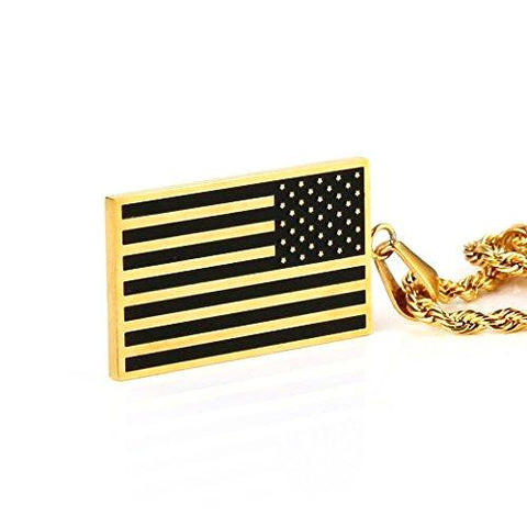 Stainless Steel Men's American Flag Dog Tag - CandM Online Store