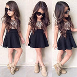 Kids Short Sleeve Leopard Dress  2 - CandM Online Store