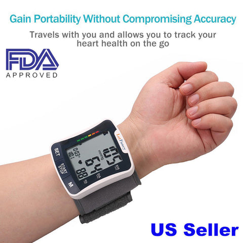 Automatic Digital Wrist Blood Pressure Monitor BP Cuff Machine Home Test Device - CandM Online Store