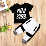 Cool Toddler Mini Boss Tshirt 2Pcs Set - CandM Online Store