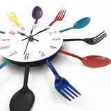 SPOON FORK CREATIVE QUARTZ WALL MOUNTED CLOCK - CandM Online Store