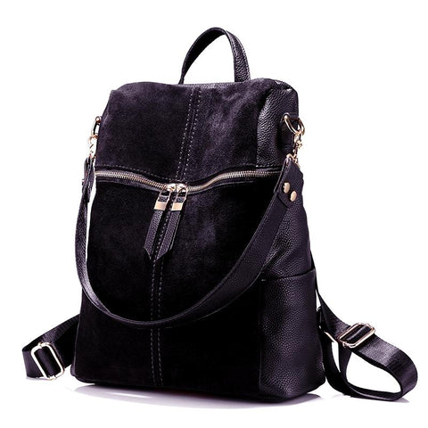 Women Vintage Leather Handbag/Backpack - CandM Online Store