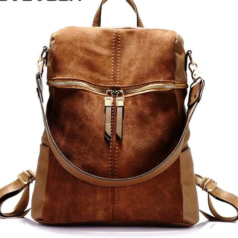 Women Vintage Leather Handbag/Backpack