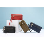 Female Wallet- long purse with wrist strap, double zipper. - CandM Online Store