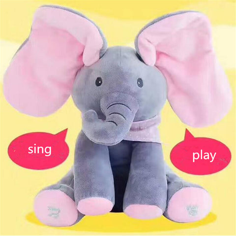 Sing and Play Elephant Plush Doll