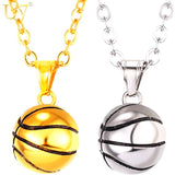 Men's Basketball Pendant Gold Necklace - CandM Online Store