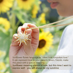 Sunflower Necklaces Stainless Steel With Rhinestone Pendant & Chain Jewelry - CandM Online Store