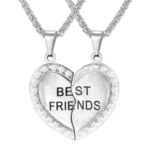 Friendship Pendant Necklace with Rhinestone - CandM Online Store