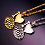 """I Love Football"" Pendant Necklace Unisex - CandM Online Store"