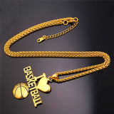 """I Love Basketball"" Fan Pendant & Necklace - CandM Online Store"