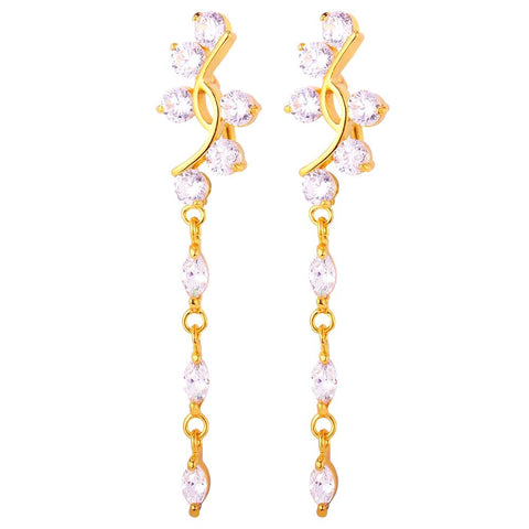 Long  Drop Earrings with Rhinestones - CandM Online Store