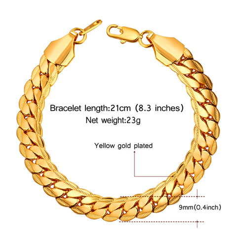 Bold Punk Chain Bracelet Trendy Jewelry - CandM Online Store