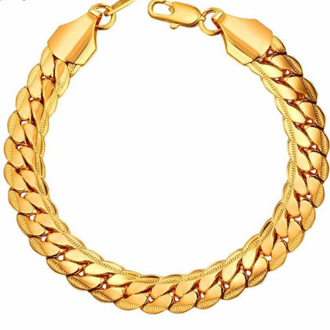 Bold Punk Chain Bracelet Trendy Jewelry