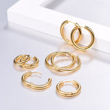 Round Simple Hoop Earrings  4 Pairs/Set - CandM Online Store