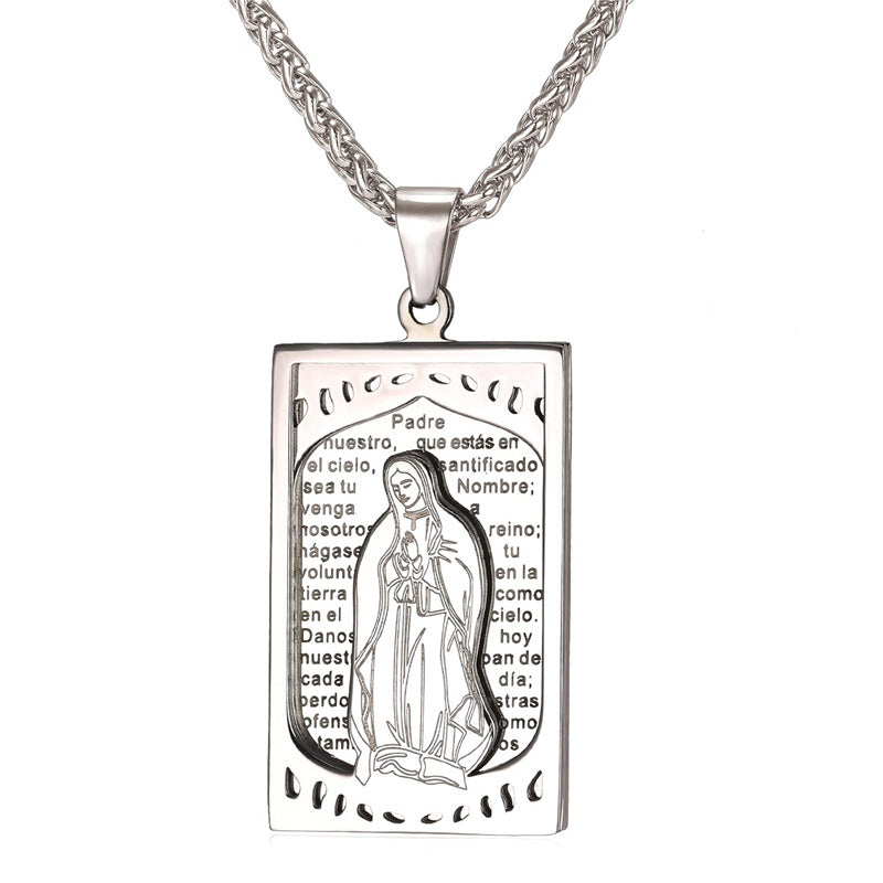 Mother virgin mary square pendant necklace candm store mother virgin mary square pendant necklace aloadofball Image collections