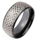 Stainless Steel Band Black Ring - CandM Online Store