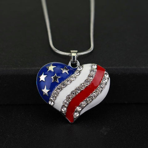 USA Enamel Flag Necklace - CandM Online Store