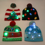 LED Christmas Beanie Light Up Knitted Hat for Children Adult Christmas Party - CandM Online Store