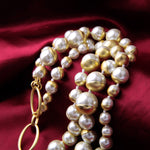 Bridesmaid  Layered Simulated Pearl Necklace Statement Choker Necklace - CandM Online Store