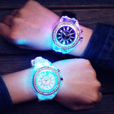 Luminous LED Children Watches Silicone Rubber Quartz Glowing in the dark - CandM Online Store