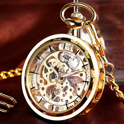 Steampunk Skeleton Watch Necklace