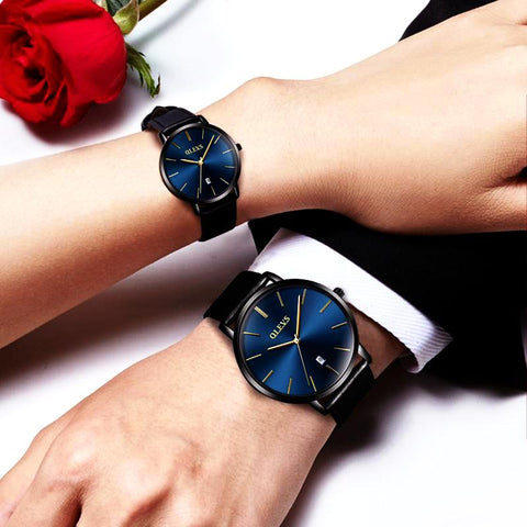 Couple Luxury Ultrathin Wristwatches