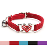 Cat Collar Heart Charm & Bell