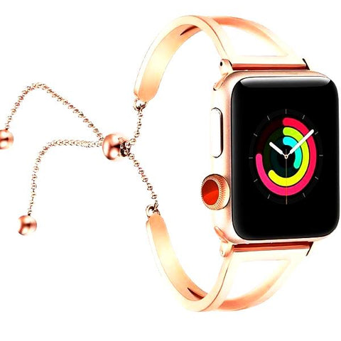 Apple Watch Bands Adjustable Stainless Steel Strap / iWatch series 3 2 1 (38mm/42mm) - CandM Online Store